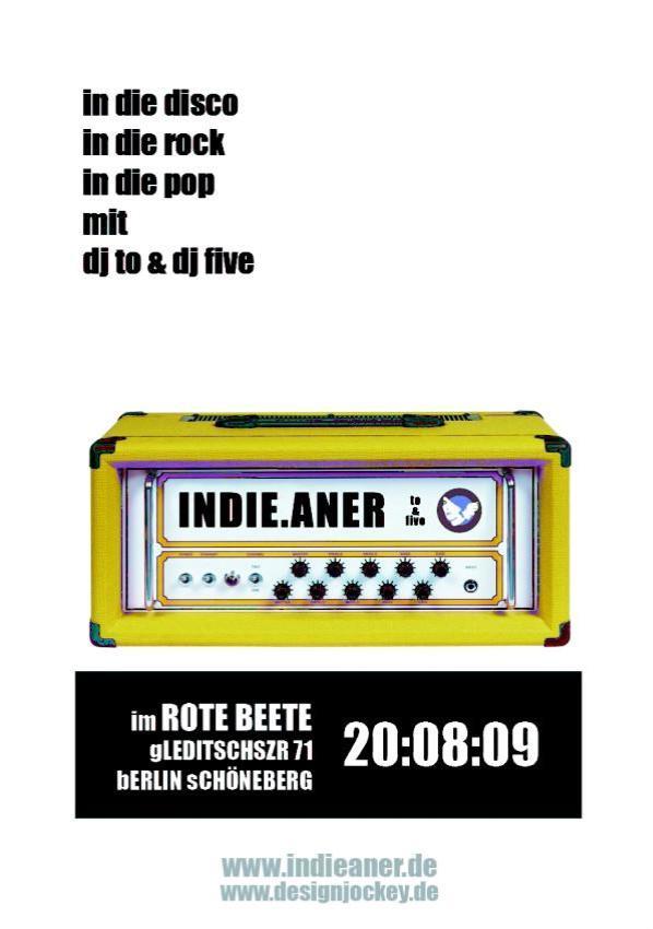 20.08.2009 indie.aner @ Mars Radio (the dj-night every thursday @ Rote Beete) / dj five & to mit indiepop, indierock, in die disco
